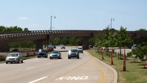 Gerault Flyover at FM 2499 in south Flower Mound.
