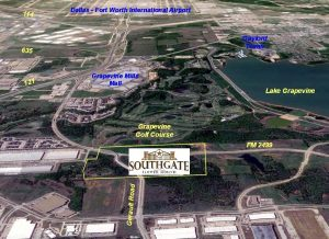 Southgate, a proposed 108-acre mixed-use development slated for Gerault Road and FM 2499 in Flower Mound.