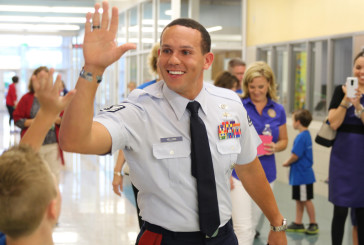 School celebrates Armed Forces Day with military hero