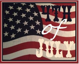 4th of july graphic -- flag