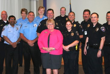 City honors officers