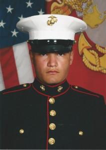 Pfc. Matthew Medlock, a Guyer High School graduate, completed USMC basic training in June (Photo Courtesy: Betty Medlock)