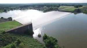Lake Grapevine's waters spilled over its limits due to flooding earlier this month.