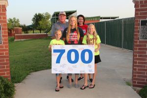 Softball is a family affair for NCTC head coach Van Hedrick. All three of his daughters play the sport. Pictured are (left to right) Autumn, Van, Ashley, Robyn and Allison (Photo courtesy of NCTC)