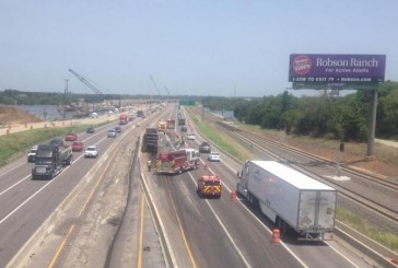 I35E back open after 18-wheeler wreck closed NB lanes