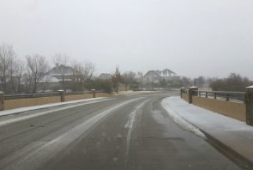 Snow finally shows in southern Denton County