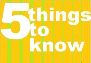 5 things 14
