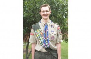 Andrew Rieder, 18 of Lantana, earned his Eagle Scout Award for creating a U.S. map to help students at a local elementary school learn the 50 states (Photo Courtesy: Michael Rieder).