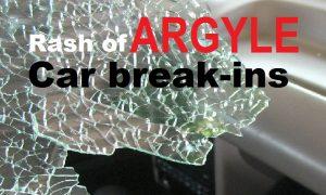 Argyle car breakins