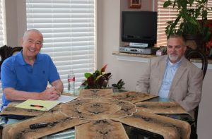 Columnist Bob Weir and Col. Chris Martin talk about an upcoming veterans event (Photo Credit: Netsky Rodriguez).
