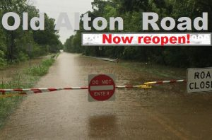 All of Old Alton Road in Denton County is now open, after a portion of it was closed due to flooding since the end of May.