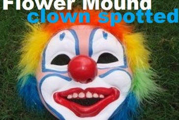 Flower Mound man spots 'clown' hiding in neighborhood