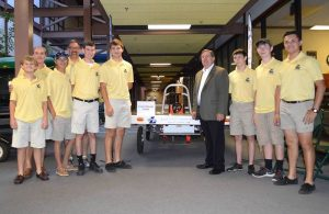 Liberty Solar Car Team with Congressman Michael Burgess.