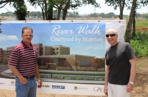 Bobby Dollack and Bob Weir at the location of the coming River Walk at Central Park in Flower Mound (Photo: Netsky Rodriguez).