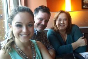 Hayley Orrantia and her parents (Photo Courtesy: Dan Orrantia).
