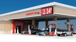 Proposed rendering of new gas station in Highland Village.  The  revised plans will change slightly and there will be less red around the doors, according to city officials.