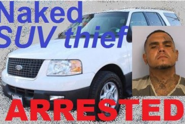 Naked SUV thief in custody after stealing Highland Village SUV