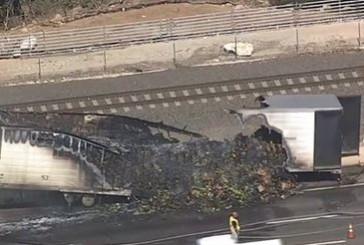 Truck fire snarls afternoon commute
