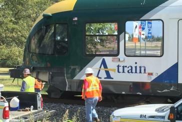 DCTA delays after train, truck collide; driver dead