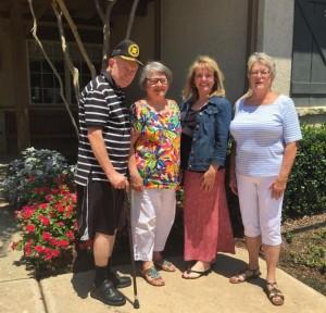 Bob Thompson, Jane Thompson, Perri Lawrence and Linda Krimm (Photo Credit: Jane Thompson).