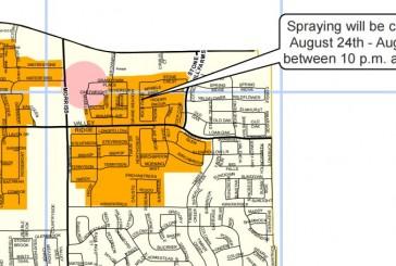 Seventh ground mosquito spraying scheduled
