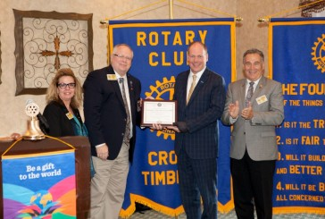 Cross Timbers Rotary Club receives official charter