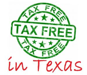 Aug. 7-9, 2015 is tax-free weekend in Texas.