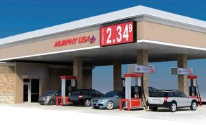 Rendering of the new gas station to be located in front of Walmart in Highland Village.