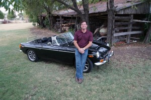 Bryan Hutchinson loves classic cars and uses his hobby to help others in need. (Photo by Madison Hutchinson)