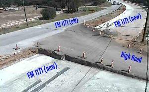 FM 1171 construction land switch 9-15