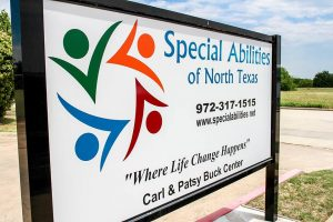 Special Abiliities of North Texas sign 2015