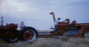 Bill Neiman and his daughter worked their Flower Mound land during the 1970s (Photo Courtesy: Bill Neiman).