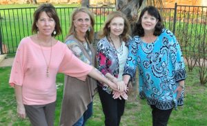 The Power of Four: Pat Kipp, Kathy Bromagen-Hodges, Carol Humphries, and Dana Bondar. (Photo courtesy of JaLynn West)