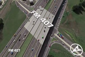 FM 407 underpass at I-35E.