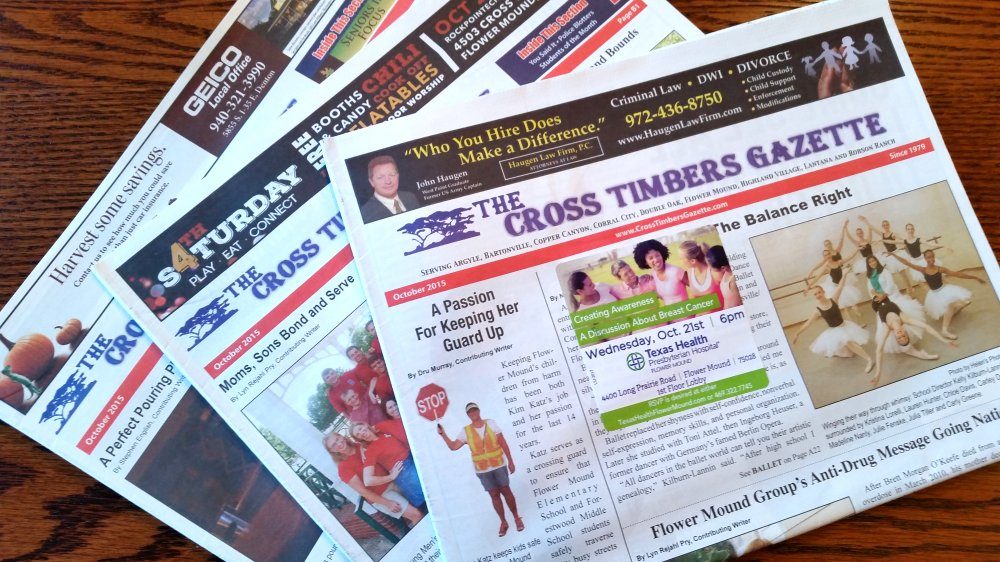 The Cross Timbers Gazette October 2015 - Cross Timbers Gazette | Southern Denton County | Flower Mound | News