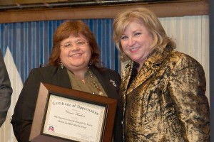 Area Leader of the Year Connie Hudson and State Senator Jane Nelson