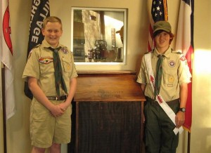 Boy Scout Troop 262 presented a flag disposal box to the Highland Village Fire Department in conjunction with Veterans Day.