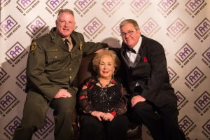 Denton County Sheriff Will Travis, actress Doris Roberts and Bob Williams, CEO of Ranch Hand Rescue in Argyle.