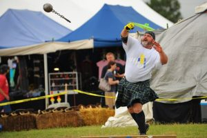 Bob Kneip of Argyle competes in the Scottish Highland Games regularly and with good results.
