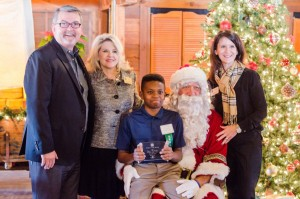 McKamy Middle School 8th grader Bryce Woolridge (center) was named the Flower Mound Chamber of Commerce's December Student of the Month.
