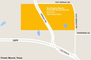 Southgate location in south Flower Mound.