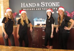 The staff at Hand and Stone Massage and Facial Spa in Flower Mound can take care of your holiday gift needs and help you de-stress during this busy season.