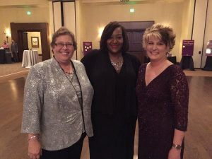 Denton County Friends of the Family's first Executive Director, Fran Danis; current Executive Director, Toni Johnson-Simpson; former Executive Director, Sheryl Sutterfield Jones.