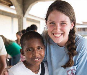 Erin Templer in Honduras.
