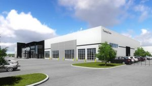 Artist rendering of the Mercedes-Benz facility.