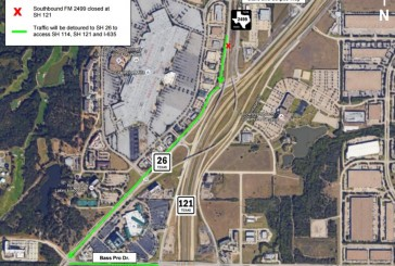FM 2499 detour in place this weekend