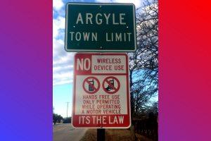 hands free law sign argyle