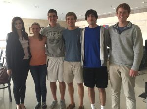 Argyle Youth Advisory Council members from Argyle High School (left to right): Maddison Darnell, Lia Sorenson, Bryce Pilawski, Logan Weitzer, Fischer Rouly, Reeves Moseley. Not pictured: Brooke Daniel, Kayla Haynes, Brayden Ratcliff.