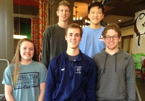FMHS state qualifiers. Back row, from left:  Conor Owens, Stephen Cheng Frong. Front row from left: Avery Valenciano, Garrett Holcroft, Spencer Woodward. (Photo by Dan Snow)