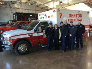 New ambulance at Fire Station #7 on Vintage Blvd.